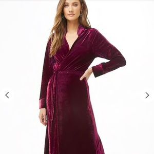 Velvet Wrap Dress NWT